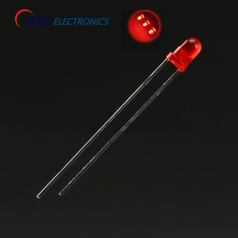 OWEIS 100PCS/LOT 3MM/F3 RED TURN RED LED ROUND HEAD SUPER LIGHT LED Lamp Emitting Diodes LONG LEG FREE SHIPPING