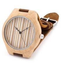 BoBoBird NB004 Мода Деревянный Бамбука Часы Мужские Лучший бренд Дизайн Luxulry Платье Часы Япония 2035 Кварцевый Механизм Наручные Часы