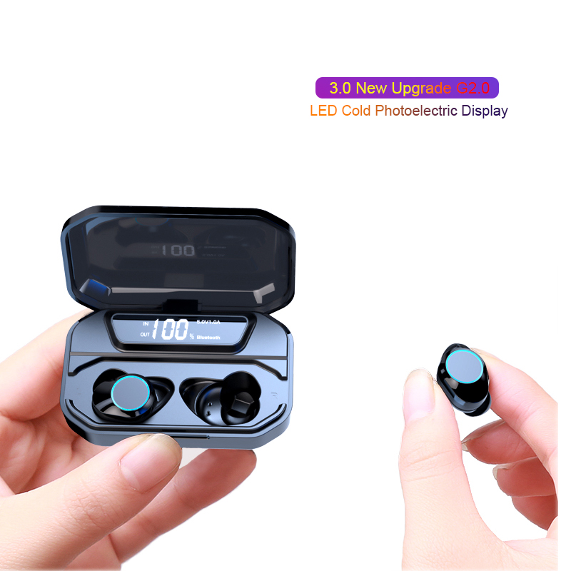 Image 4 - Самая последняя X6 светодиодный Дисплей Беспроводной Bluetooth наушники сенсорный экран при Беспроводной наушники с 3300 mAh зарядное устройство для смартфонов-in Наушники и гарнитуры from Бытовая электроника