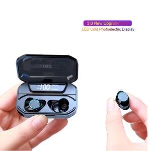 Image 4 - 最新の X6 Led ディスプレイワイヤレス Bluetooth イヤホンタッチ Contral ワイヤレスイヤフォンで 3300 mah 充電スマート電話