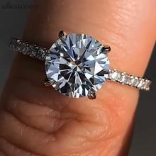 Choucong solitaire кольцо на палец,, настоящее 925 пробы, серебро, 1ct, Sona AAAAA, циркон, обручальное кольцо, кольца для женщин, подарок