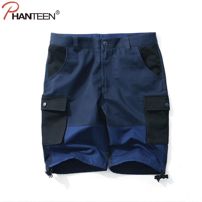 New 2018 Men Cargo Shorts Casual Loose Short Pants Camouflage Military Summer Style Knee Length Plus Size Shorts Men
