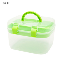 SYTH home transparent small portable drug medicine storage box  Multi-layer Large family case