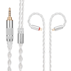 Yinyoo 7N 4 Core Pure Silver Cable 2.5/3.5/4.4mm Balanced Earphone Upgrade Cable With MMCX/2Pin For ZS10 PRO AS12 C10/A10/C12