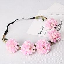 Women's Fashion Bohemia Beach Flower Hair Bands Beautiful Floral Elastic Headband Garland Hair Accessories Headwear