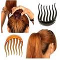 FAMSHIN 1 шт. заколки для волос буффант стили гребень Инструмент 8x6 см Peigne шиньон - фото