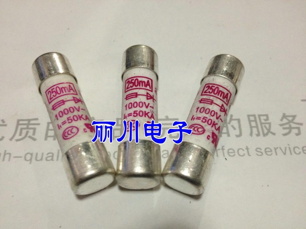 Free shipping. HOLLY Fast Fuse 10X38 250MA 0.25A 1000V 400MA  10A kbu1010 1000v 10a