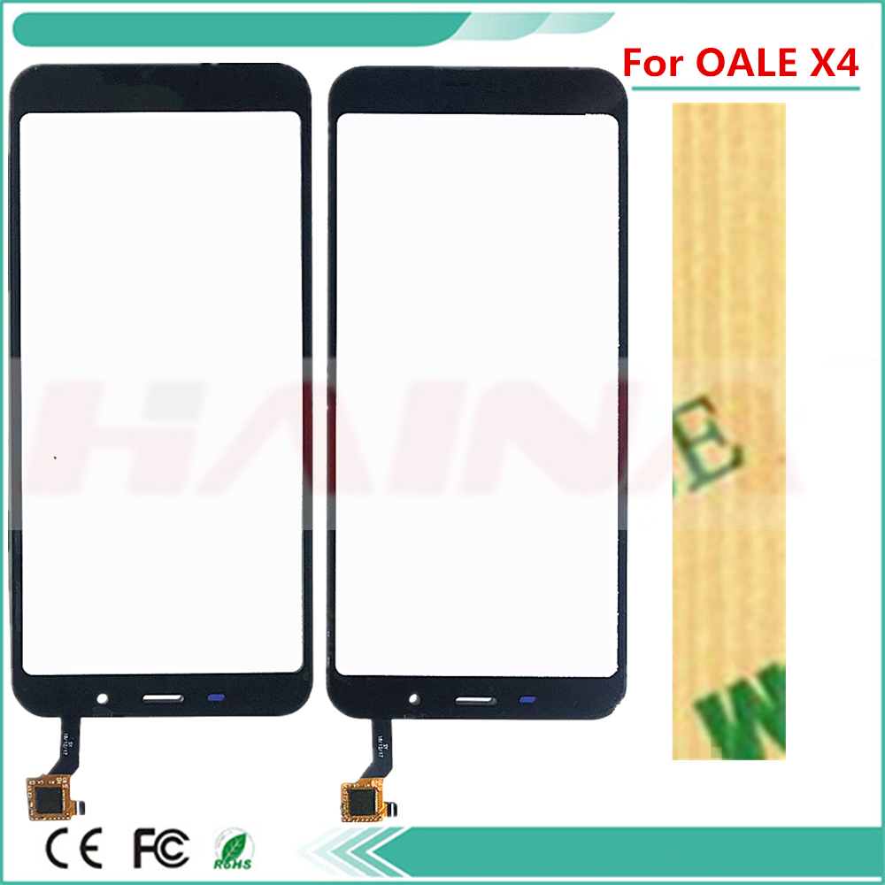 With Tape Mobile Phone Touch Panel For OALE X4 Touch Screen Digitizer Glass Sensor Replacement TouchscreenWith Tape Mobile Phone Touch Panel For OALE X4 Touch Screen Digitizer Glass Sensor Replacement Touchscreen