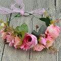 Lua de mel doce Menina hairband enfeites de cabelo cabeça flor artificial fotografia grinalda acessórios Do Presente de casamento da noiva E-16