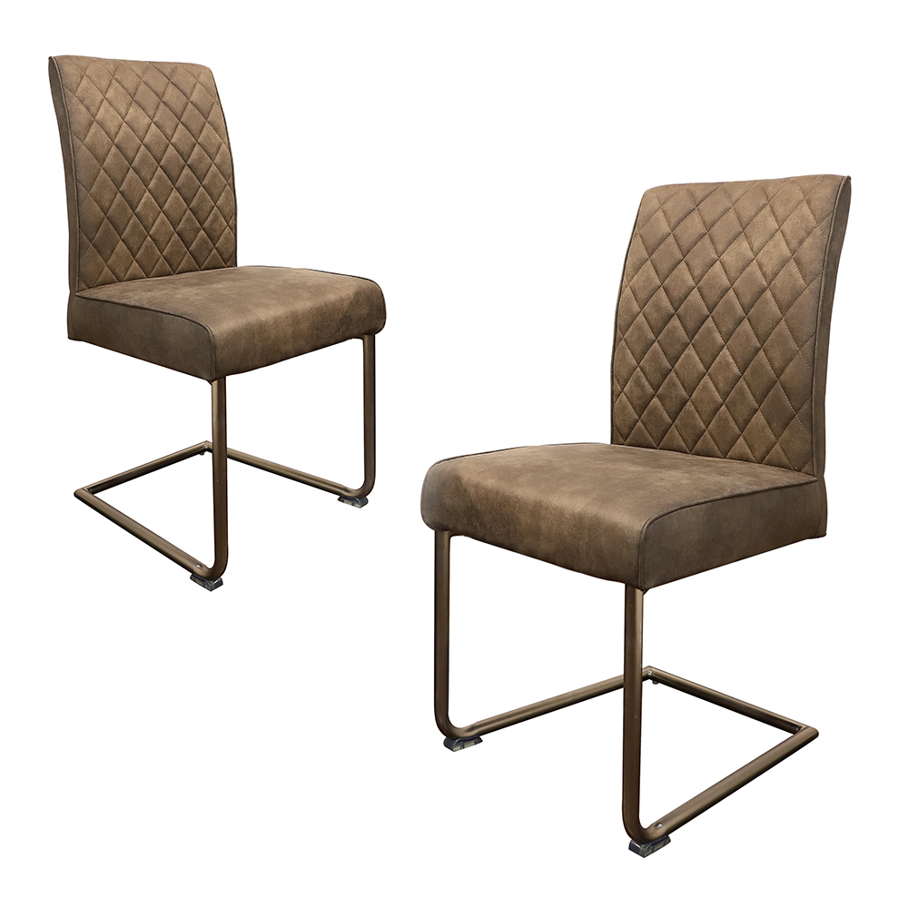 Fancy-Fix Vintage Industrial Dining Chair design Metal Frame dining chairs Ergonomic comfortable Chair sillas comedor(Set of 2 ) fancy fix comfortable bow shaped kitchen chair black leather dining chair for kitchen ergonomic design dining room furniture