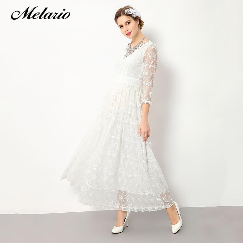 Melario платье для беременных 2018 для беременных Подставки для фотографий платье для беременных v-образным вырезом Кружевная летняя женская оде... ...