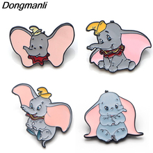 L2857 the Film Dumbo Cute Metal Enamel Brooch Lapel Pin Badge Decorative Jewelry Style Brooches Unisex kids Gift 1pcs