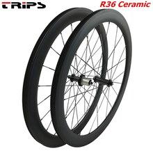 38 мм 50 мм 60 мм 88 мм диски из углеродного сплава 700C clincher Дорожные колеса R36 керамическая ступица трубчатый базальтовый тормоз углеродная велосипедная дорога велосипед колесная