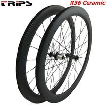 38mm 50mm 60mm 88mm carbon rims 700C clincher road wheels R36 Ceramic hub tubular Basalt brake Carbon Bicycle road bike Wheelset