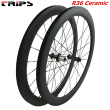 38mm 50mm 60mm 88mm felgi węglowe 700C clincher koła jezdne R36 ceramiczne piasty rurowe bazaltowe hamulce węgla rowerów drogowych zestaw kół rowerowych