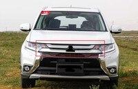 Передний бампер верхняя решетка гриль Вставить радиатор для Mitsubishi Outlander 2015 2016 1 шт.