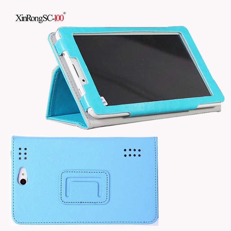Darmowe film PU skóra składany statyw skrzynki pokrywa dla obsługi Prestigio Wize 3427 3G PMT3427_3G_C pmt3427c pmt3427 pmt 3427 7 cal tablet