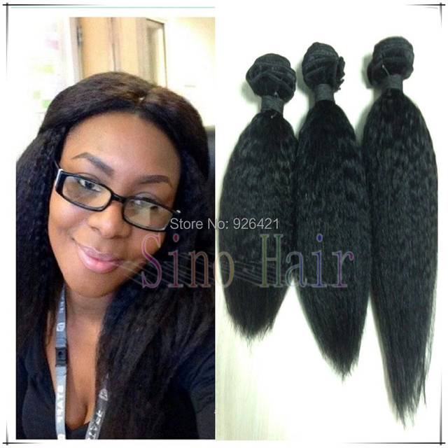 Free Shipping Brazilian Kinky Coarse Yaki Hair Extensions Italian