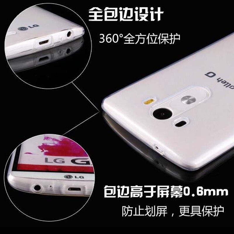 0.3 мм прозрачный ультра тонкий мягкий ТПУ Силиконовая сотовый телефон В виде ракушки обложка кожа чехол для LG V10 F600 h968/G4 Pro 5.7