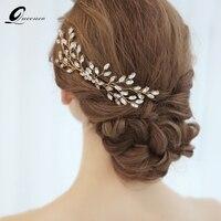 Queenco Кристалл расческа для волос Мода свадебные аксессуары для волос Заколки для волос мода головной убор вечерние украшения