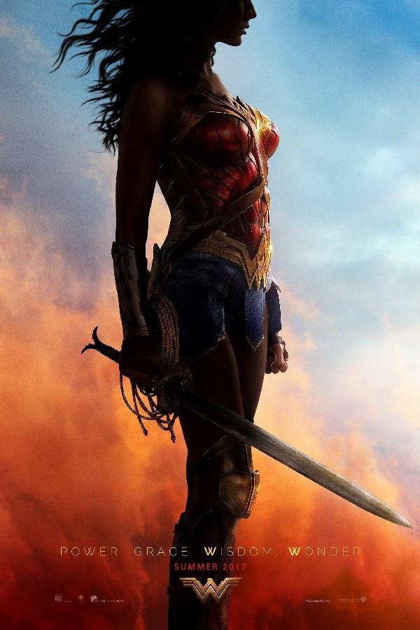 Wonder Woman 2017 hot movie posters and print glossy silk fabric cloth print art Wall Decor