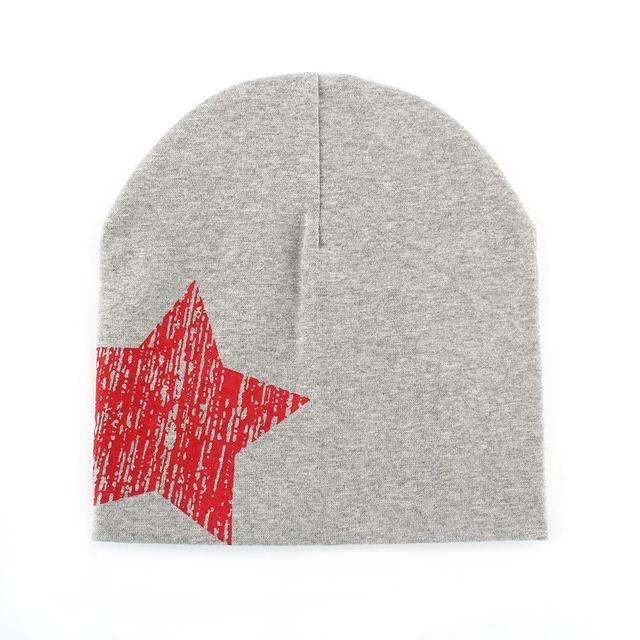 Baby Star Printed Beanie Cap (14 Colors)