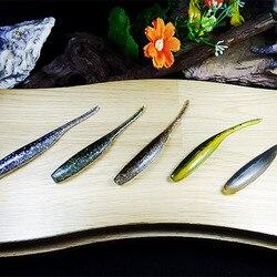 Marche poisson 8 PCS/Lot 80mm 1.9g pêche leurre souple Silicone appât lecteur Shad Double couleurs pêche leurre doux artificiel appât