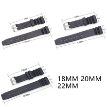 18mm 20mm 22mm Black Rubber Silicone Watchband with Buckle for Casio G-SHOCK Watch Straps belt 18mm 20mm 22mm watchband black rubber sport wrist men silicone military diving watch strap band for casio g shock accessories