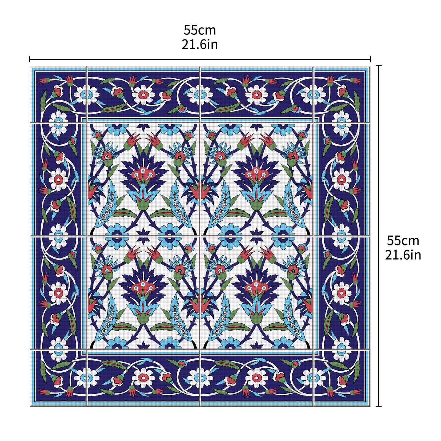 Image 5 - Hot  Moroccan Lack Table Desk Tops Cloth Wall Decals Removable Self Adhesive Waterproof Furniture Wall Sticker 55X55Cm-in Wall Stickers from Home & Garden