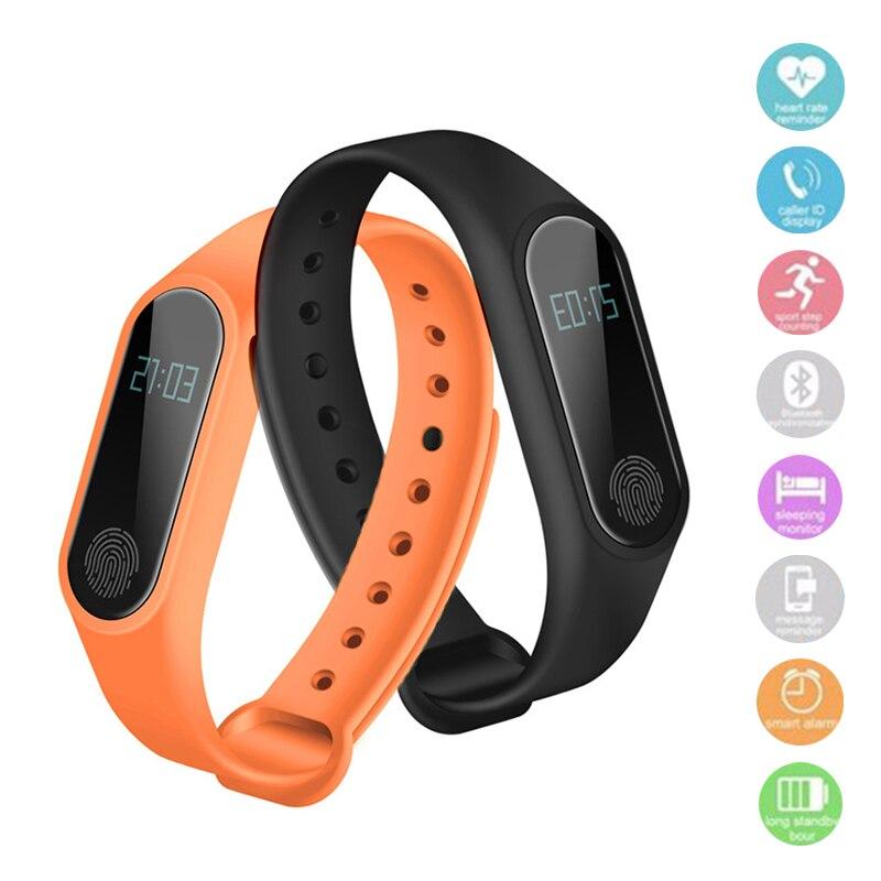 M2 montre Intelligente Pression Artérielle Poignet Montre Pulse Compteur Moniteur Cardiaco Fitness Tracker Smartwatch iOS Android Bracelet Mi Bande
