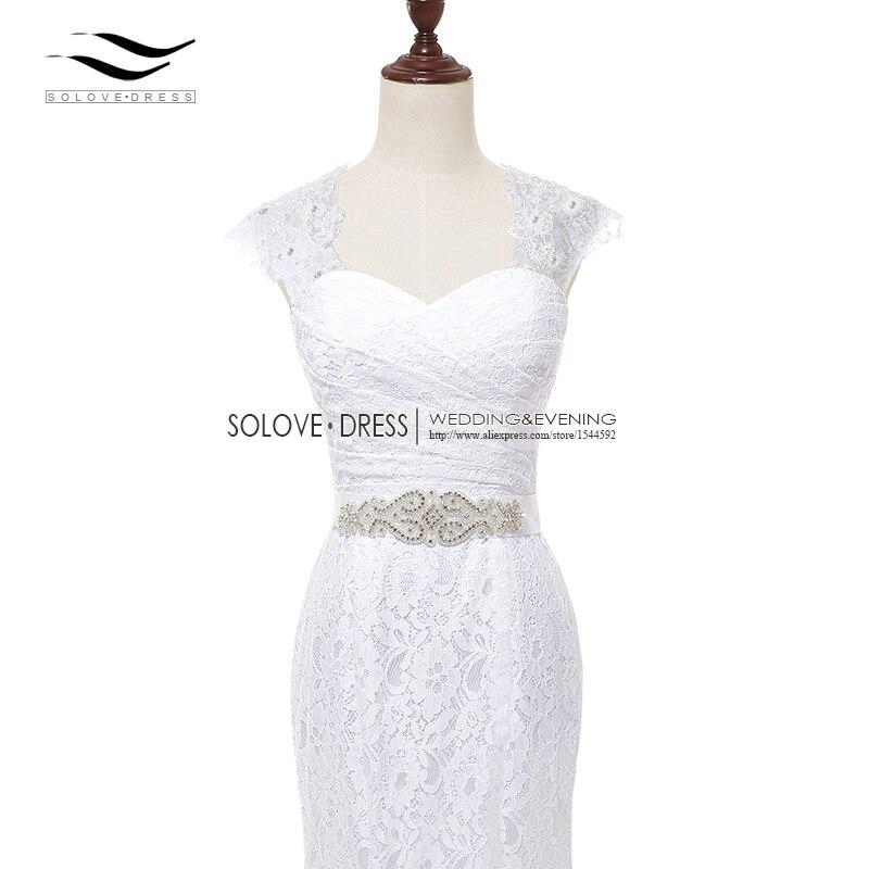 2017 Bridal Gown Real Photos White Cheap Mermaid Lace Wedding Dress ...