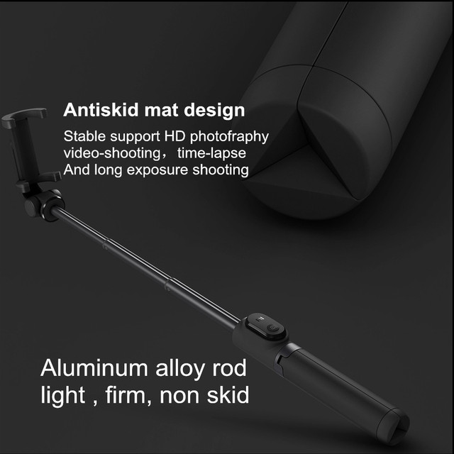 Original Xiaomi Foldable Tripod Selfie Stick Bluetooth Selfiestick With Wireless Shutter Selfie Stick For iPhone Android Xiaomi
