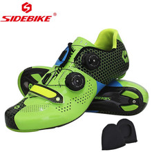 Sidebike Road Cycling Shoes Carbon Fiber Road Bike Shoes Self-Locking Athletic Bicycle Shoe Sapatilha Ciclismo Estrada men Shoes