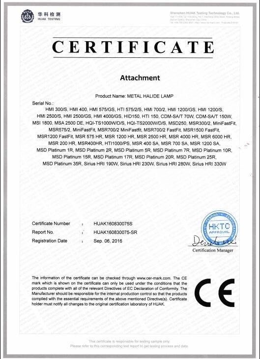 ROCCER Высокое качество 2000 Вт Металлогалогенная лампа HQI-TS 2000 Вт/д/с