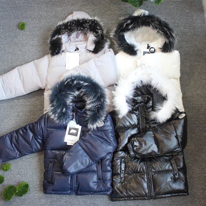 2019 chaqueta de invierno parka para niñas niños abrigos 90% chaquetas ropa de los niños para la nieve niños abrigo y abrigos - 4