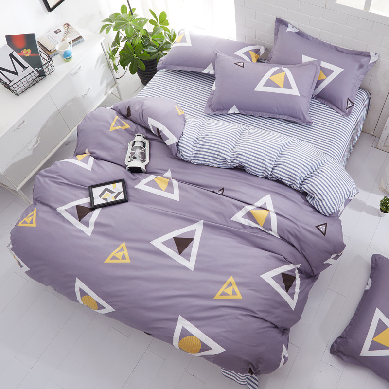 3/4pcs Cartoon Single/Twin/Queen /King Sizes  Luxury Bedding Set Quilt Cover Sets