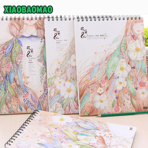 Cute Sketchbooks A4 Blank Drawing Paper Notebook Spiral Sketchblock Doodle Book Journal Diary Sketchbooks встраиваемый спот точечный светильник arte lamp cardani a1212pl 2wh