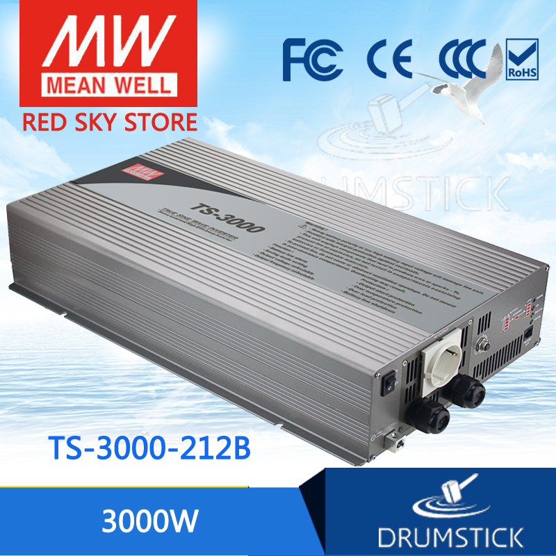 цена на hot-selling MEAN WELL TS-3000-212B EUROPE Standard 230V meanwell TS-3000 3000W True Sine Wave DC-AC Power Inverter