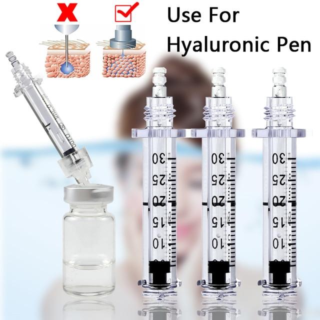 50pcs 0.3ml lip filler hyaluronique pen Syringe Ampoule Needle for Hyaluronic acid lip injection wrinkle removal water syringes