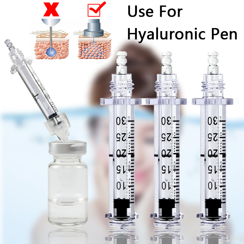 50pcs 0.3ml Lip Filler Hyaluronique Pen Syringe Ampoule Needle For Hyaluronic Acid Lip Injection Wrinkle Removal Water Syringes