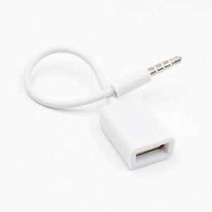 2х одиночный 3,5 мм AUX аудио к USB 2,0 Тип A Кабель-адаптер OTG Автомобильный штекер Jack папа к женскому MF конвертер шнур для автомобиля mp3-плеер