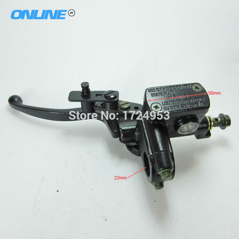 Free shipping universal ATV Left Side Hydraulic Brake Master Cylinder Lever Fit To 50cc 110cc 125cc 150cc 250cc ATV Quad atv right and left hydraulic brake master cylinder w parking and 2pcs connect 70 90 110 125cc atv quad