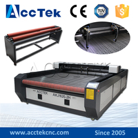 Big size 1626(1325 1530 1535) CE FDA ISO standard co2 textile laser cutter, co2 laser rubber cutting machine for sale