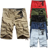 Shorts Men Cool Camouflage Summer Hot Sale Cotton Casual Men Short Pants Brand Clothing Comfortable Camo Men Cargo Shorts 3.21