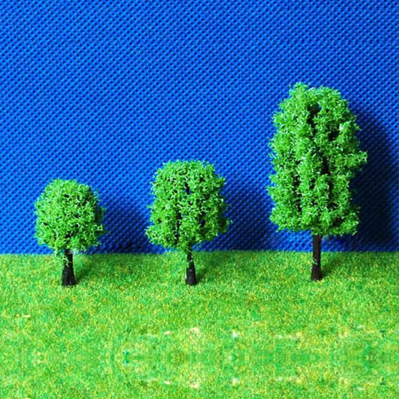 2 uds árboles de goma miniatura DIY Micro jardín maceta de flores Bonsai casa de muñecas decoraciones de escritorio fuente de modelos de construcción