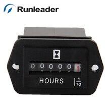 AC 110-250V  Hour Meter Hourmeter Gauge for Boat Car Truck Engine Rectangular Professional Car Instrument