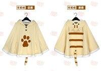 Anime Cat Teacher Cosplay Costume Autumn Winter Sweater Woman Coat Lovely Cute Grey Yellow Cloak