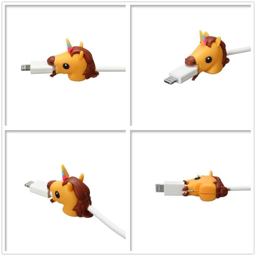 Biss Einhorn Kabel Protector Draht Wickler für iPhone USB Kabel Organizer Chompers Nette Cartoon Bites Telefon Halter Zubehör