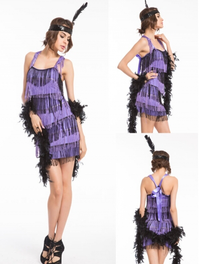 Colorful flapper dress