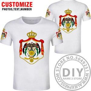 Image 3 - JORDAN t gömlek diy ücretsiz custom made adı numarası jor t shirt ulusal bayrak ülke Hashemite Krallık koleji baskı fotoğraf jo giysileri
